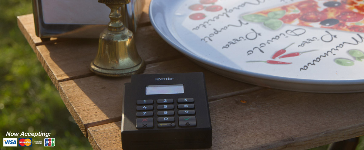 The Pizza Bike - card reader iZettle
