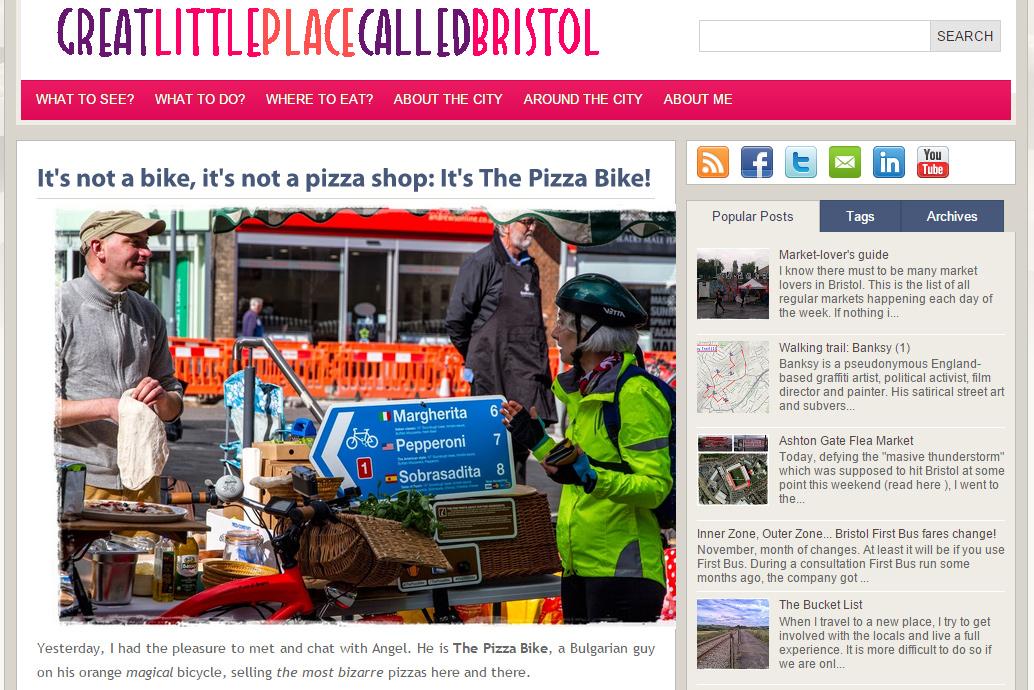 #thepizzabike #pizzabike greatlittleplacecalledbristol