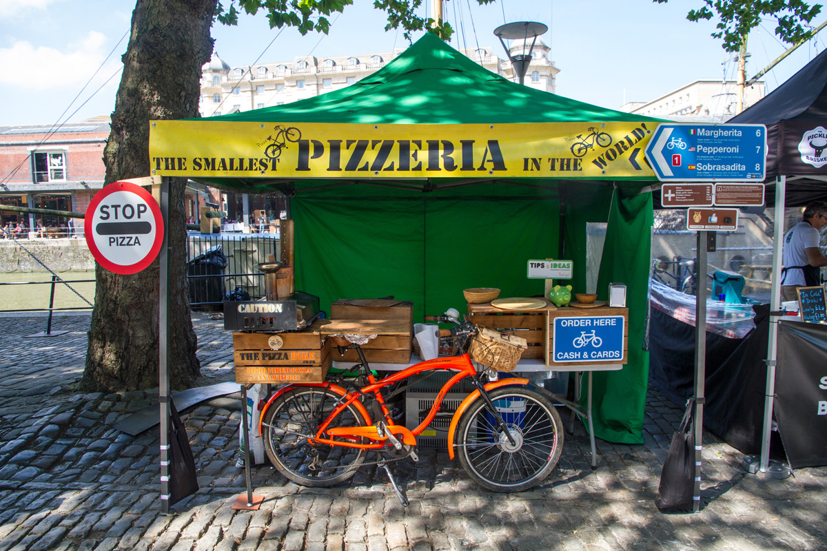 The Pizza Bike at The Harbourside Market, Bristol