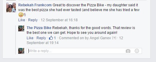 reviewbradfordonavon the pizza bike