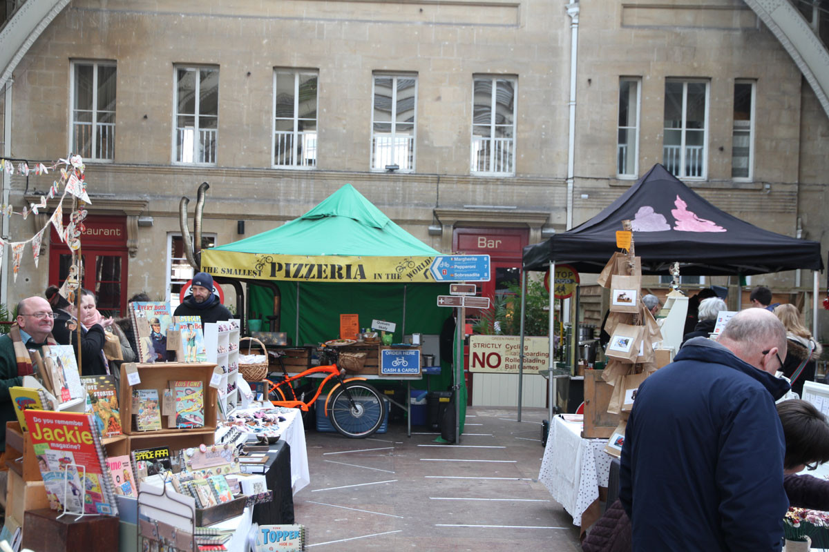 The Pizza Bike at Bath Artisan Market