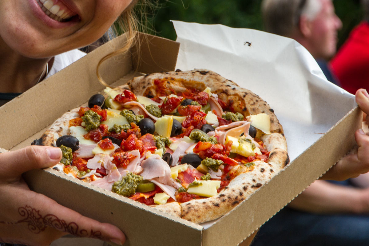 pizza from the pizza bike