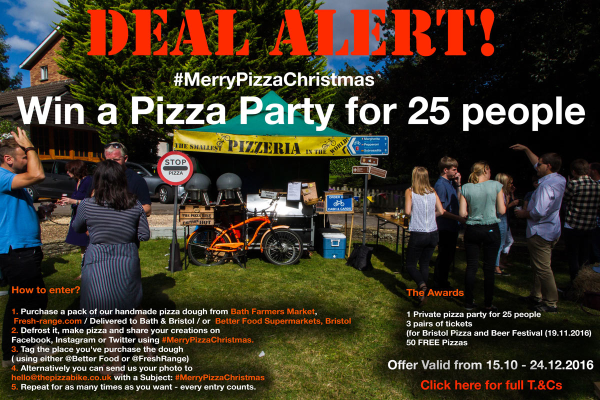 Win a Pizza Party from The Pizza Bike #MerryPizzaChristmas