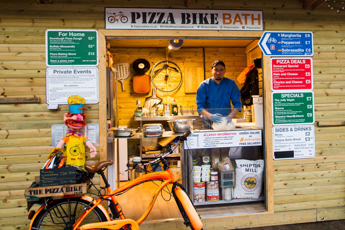 Pizza-Bike-Bath-Green-Park-Station