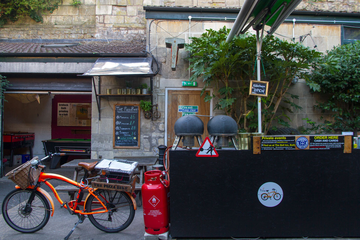 The Pizza Bike at The Bell Inn Bath