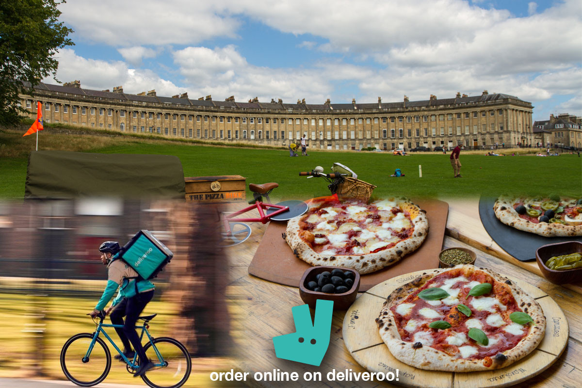 order pizza online on deliveroo from the pizza bike bath